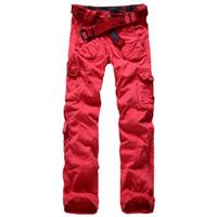 camo clothing - 2015 Women Clothing Fashion Women s Army Fatigue Camo Cargo Pants Girls Baggy Harem Hip Hop Dance Pants Multi pockets Trousers