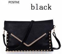 Wholesale new women s day clutches vintage rivet envelope bags fashion handbags