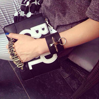 big bad bags - European and American big PU metal letters BAD GIRL Clutch handbags qw130