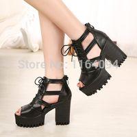 Cheap Chunky Block Heel Sandals   Free Shipping Chunky Block Heel