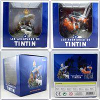 adventure comics - Comic Herge The Adventures Of Tintin Destination Moon Objectif Lune amp Milou Snowy Space Suit Figure Toys Christmas gift