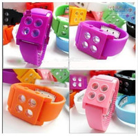 Wholesale Fashionable Watch Unisex Four Grid Jelly Watches Led Wristwatch