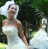 Wholesale Ultra thin Korean version bride wedding dresses new style high quality