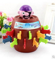 baby run game - 2015 hot baby toys running man Uncle Pirate Game Pirate Sword cask barrel plug Model Building Kits toys juguetes