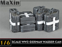 Wholesale X6 WWII German WH Fuel Oil Tank Kraftstoff Jerry Wasser Can Models for quot Action Figure Model Building Kits Child Toy