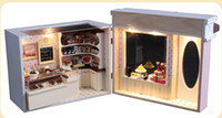 Wholesale Pakitoy DIY Wooden Doll House High Quality D Handmade Assembling Model Dollhouse Toy Gift The chocolate shop in Brussels