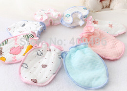 Wholesale 5 pairs Freeshipping Baby Infant Anti scratch gloves Handguard Mittens Boy Girl Unisex Newborn Kid Gloves ST5