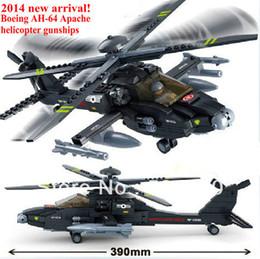 Wholesale new sluban air plane Black AH Utility Helicopter building block model bricks boy toy