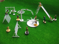 Wholesale HW001 Model Railway Scale Children Garden Fairground Playground HO SET