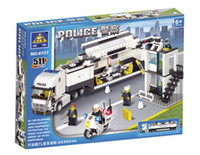 Cheap Hot sale free shipping 511 Pcs big size building block patrol wagon toys education toys for children