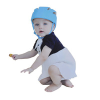 baby blue helmet - XP Protective Hat Gear Unisex Baby Toddler Hat Safety Helmet Headguard Adjustable Children Hats Cap Harnesses Gift Colors