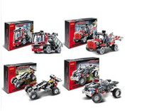 Wholesale Decool Transport Vanguard designs Technic Transport Off Roader Car Transport Rescue Car Model building block set toy