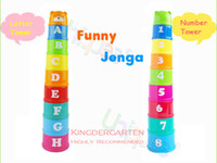 best educational toys for infants - Infant Toys Stacking Cups Educational Early Learning Toys DIY Building Blocks Bricks Math Pile Toys Best First Gift for Baby