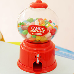 Wholesale Creative Toy korea Hot mini Candy machine Chocolate bean candy Multipurpose Piggy bank Storage jar Kids gift for Children toy