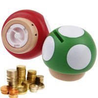 bank drop box - New Cute Super Mario Mushroom Shape quot Coin Piggy Bank Home Decor Unique Toys Money Box Free Drop Shipping