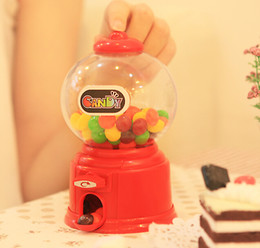 1Pcs 6Color Mini candy machine   Piggy bank Hucha Twist Cute children zakka Novelty Christmas gift