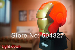 Wholesale Piece Talking Iron Man Iron Man Piggy Bank Coin Bank Touch Sensor USB Light