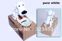 automated dog toys - color Dog piggy bank Automated dog steal coin bank saving money box money bank kids gift Novelty toys yphb