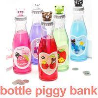 beer bottle bank - Chilren s Gift Creative Animal Cartoon Beer Money Coin Saving Box Drink Bottle Piggy Bank Money Saving Bank FSWOB