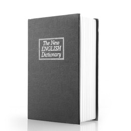 Wholesale New arrival Metal Cash Secure Hidden New English Dictionary Booksafe Homesafe Money Box Security Key Lock X X cm