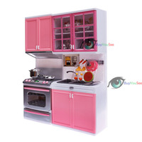 Wholesale BuyYouSee cheap Kids Children Kitchen Pretend Play Cook Cooking Cabinet Stove Cookware Toy Set Big Promotion