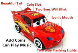 Wholesale Cute Car Blink Multiple Audio Light Racing Coin Storage Box Cartoon Piggy Bank