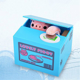 Wholesale Home decor creative idea gift ABS electronic steal money pig piggy bank money box atm coin storage