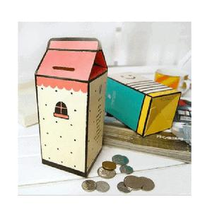 Creative cute diy toy office home decor milk box piggy for How to decorate a money box