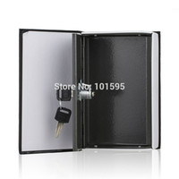 Wholesale New Interesting Portable Black Steel Dictionary Hidden Inner Secret Book Safe Money Box Security Key Lock Storage Value Item