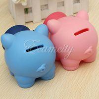 bank cash cute - Cute Plastic PVC Piggy Bank Saving Cash Coin Money Box Children Toy Kids Christmas Gifts color