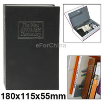 bankers box - Dictionary Design Safe Cash Box Coin Banker with Cylinder Lock Black