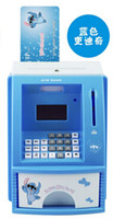 atm money box blue - Blue pink English Voice ATM Bank Toy Digital Coin Note Save Money Box ATM Bank Machine money saving piggy bank Christmas Gift