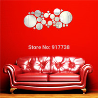 acrylic bathroom accessories - Big Size Circles Round Wall Mirror diy Acrylic Wall Decorations Living Room Home Accessories Wall Decal