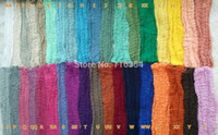 Wholesale 36 Colors Grade quot x quot pc Cotton Newborn Photo Prop Dyed Cheesecloth Wrap Baby Cheese Cloth