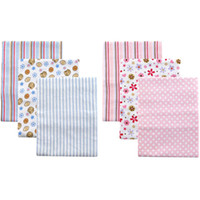 baby bedding usa - 3pcs USA Luvable Friends Pack Flannel Baby Receiving Blankets cotton baby bedding Set