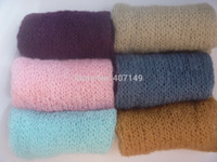 acrylic shower bar - Handmade Knitting Mohair Wraps For Newborn Baby Photography Prpps Wraps Baby Shower Gift Newborn Photography Props Accessories