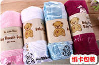 acrylic towel bars - My LIttle Bear Coral Velvet Baby Blanket Baby Receiving Blankets High Quality Baby Bath Towel cm