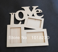 Cheap Free Shipping 1X LOVE Wood Photo Frame White Base Frame DIY Picture Frame