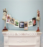 Wholesale DIY x7 inch hanging paper photo frames wall background of living room home decoration set