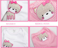 Wholesale New Spring Baby rompers set baby boy girl clothing set romper pant children animal clothes suit spring wear