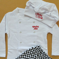 baby chef - High Quality Cotton Baby Chef Clothing Set Toddler Boys Girls Spring Autumn Clothes sets