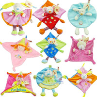 Wholesale 6 child gifts nicotoy three dimensional towel appease placarders doll baby plush toy Nicotoy Bunny Baby Security Blanket