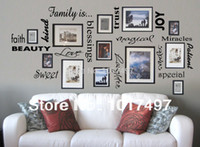cheap free shipping family is vinyl wall lettering quote wall art decor family room sticker
