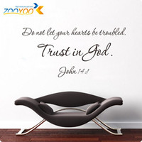 Wholesale Quote Wall Decals New Designs Trust Is God Removable Letting Quote Vinyl Wall Stickers Home Decor ZY8198 Wall Art Decals