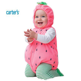 Wholesale Avivababy Carter Baby Costume Months Ropas Para Bebe Winter Fashion Strawberry Footie Girl Clothing Footies Ropa Cama