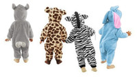 Wholesale Newborn Lovely Animal Style Baby Romper Spring Autumn Winter Baby jumpsuit Romper Colors B11 SV005504