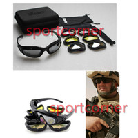 airsoft eye protection - Daisy C5 Desert Storm Sunglasses lenses Goggles Tactical Eyewear Cycling Riding Eye Protection For Airsoft UV400 Glasses