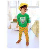 basic clothes - good quality Clothing child unisex embroidery tiger head basic shirt t shirt boy and girl shirt