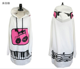Wholesale Cute Korean Music Girl White Background Casual Long Thick Pullovers Women s Ladies Sweatshirt Hoodie