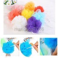 Wholesale 10Pcs Bath Shower Soap Bubble Soft Body Wash Exfoliate Puff Sponge Mesh Net Ball Bulk